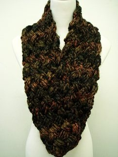 Knitted Infinity Scarf.