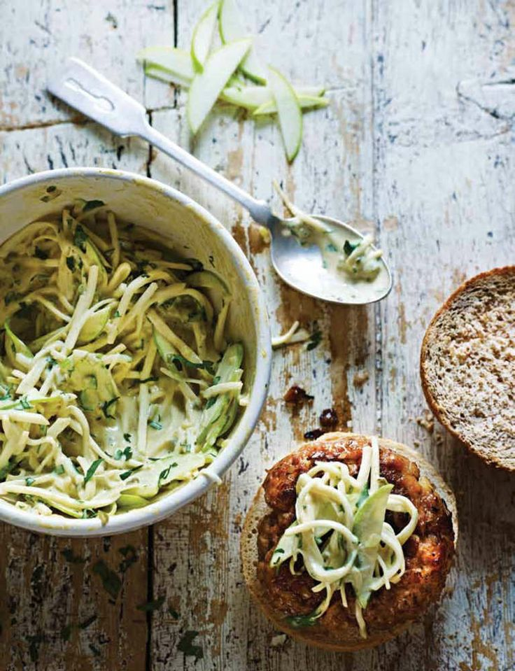 Pork and Apple Burgers with Celeriac Slaw by Dean Edwards from ...