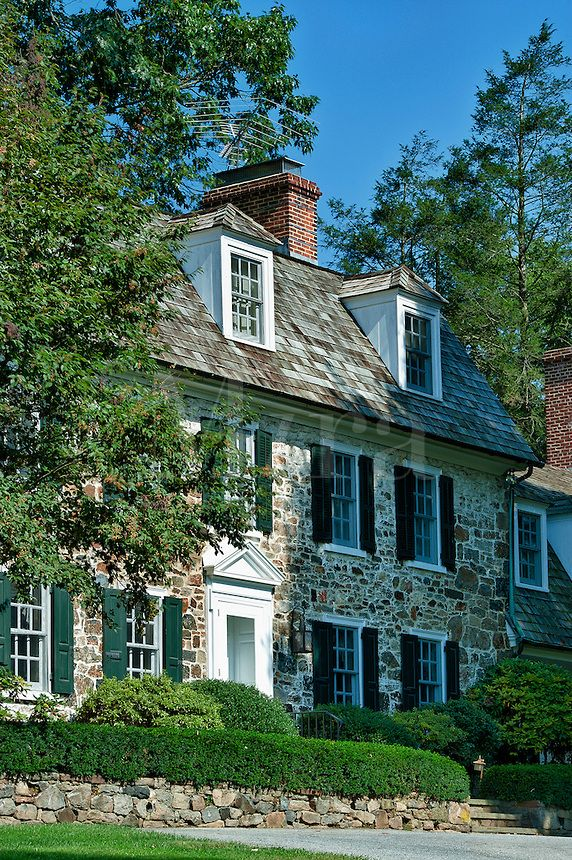 Traditional Colonial Field Stone House Homee Pinterest