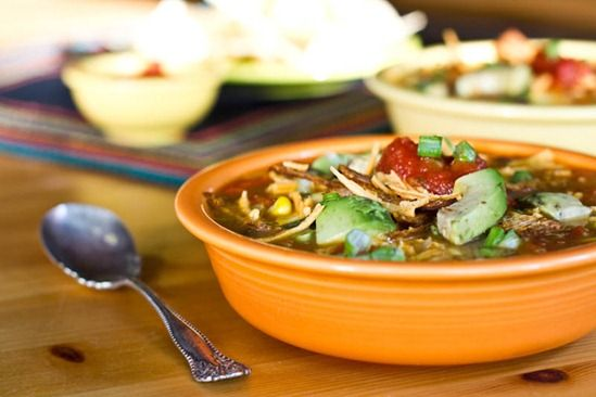 Vegan Tortilla Soup #vegan