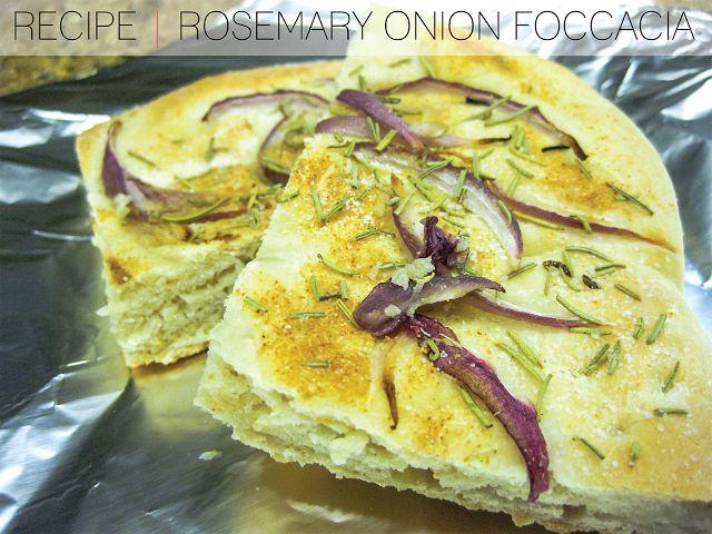 RECIPE] Rosemary Onion Focaccia | ++food++ | Pinterest