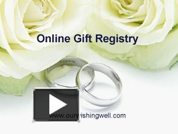 online wedding gift registry services