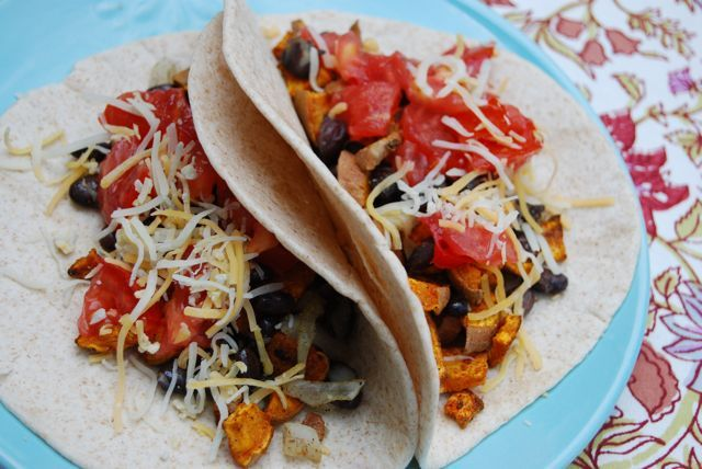 curried sweet potato & black bean tacos. I want try this. I will ...