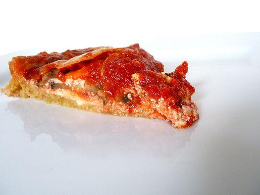 Eggplant Lasagna Tart with Parmesan-Basil Crust | Recipe