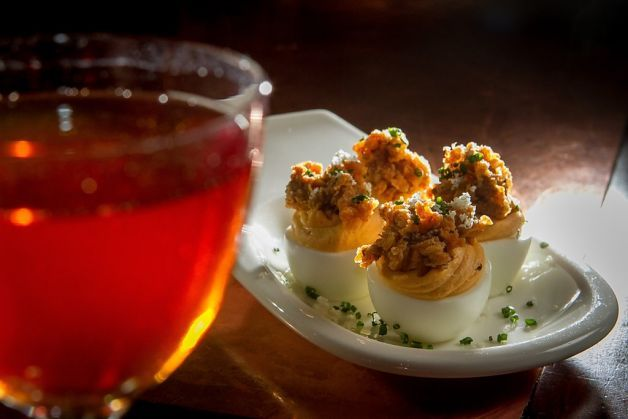 preakness cocktail | Deviled eggs with the Preakness cocktail. Photo ...