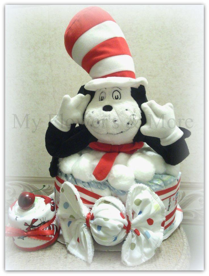 Dr. Seuss Cat in The Hat Diaper Cake | Teal got Talent | Pinterest