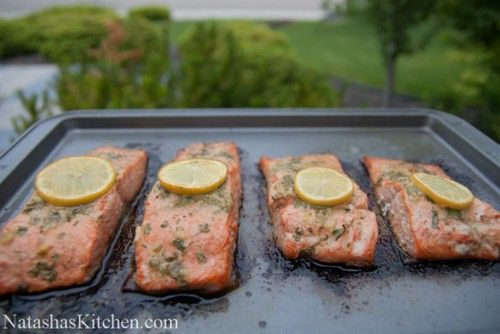 Baked Salmon with Garlic and Dijon | NatashasKitchen.com