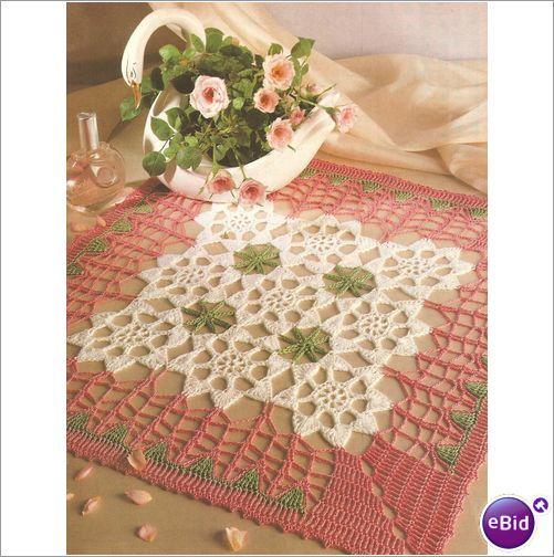 Crochet Doily Pattern Flower Patch (1) on eBid New Zealand