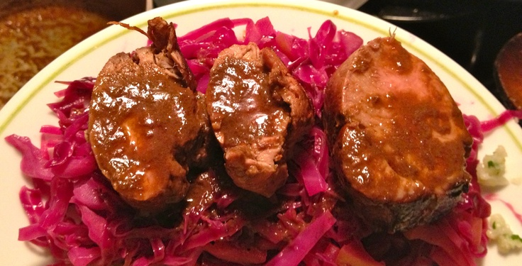 Beer-Marinated Pork with Red Cabbage From: http://brunchforbitches ...