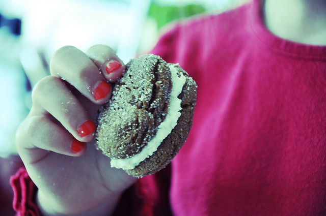 Ginger Sandwich Cookies with Lemon Filling by holajalapeno, via Flickr