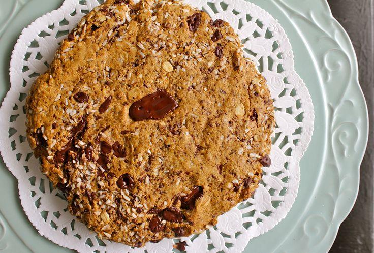 GIANT Chocolate Chunk Oatmeal Coconut Cookie (gluten-free/vegan ...