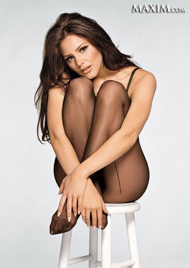 Hot chick got nylon pantyhose covered tits 2