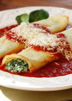 This homemade spinach manicotti is both filling and delicious! | Love ...