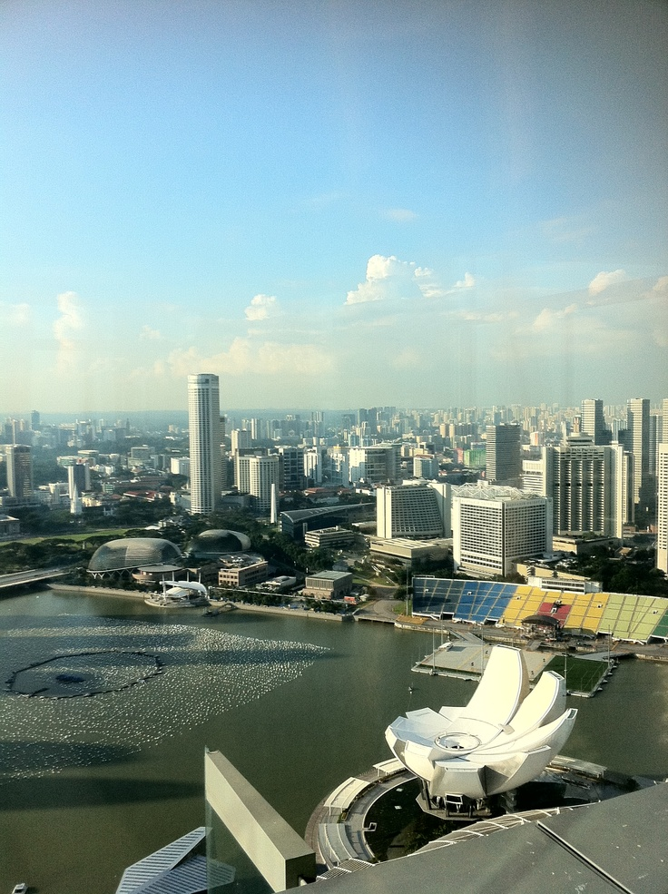 View from Marina Bay Sands (Singapore)