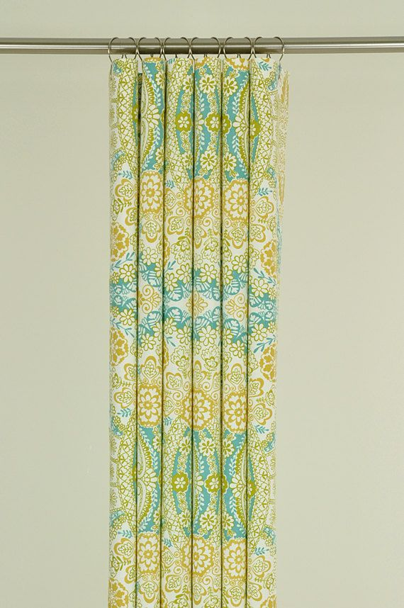 Curtains in Dear Stella's Henna fabric from the Bukhara Collection
