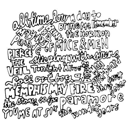 A easy of sleeping with sirens quotes coloring pages for Sleeping with sirens coloring pages