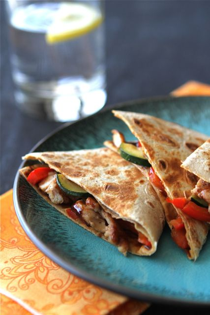 Asian Quesadilla with Chicken, Zucchini & Hoisin...healthy,fast, a ...