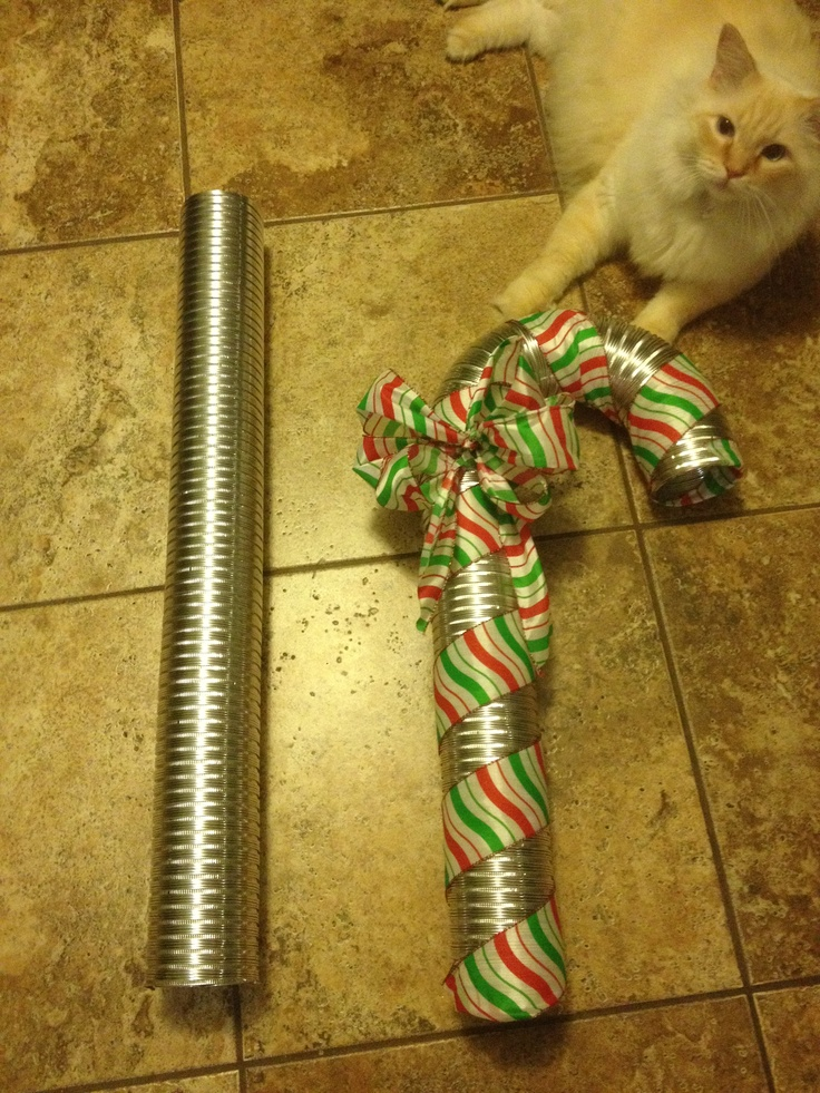 Dryer vent hose candy cane. | For the Home | Pinterest