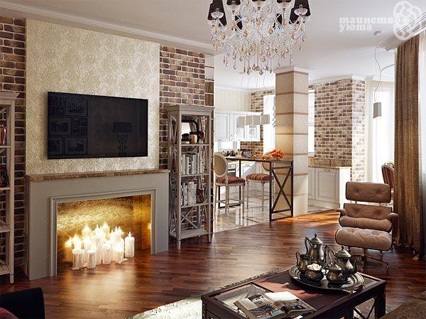 Фальш камин в квартире дизайн
