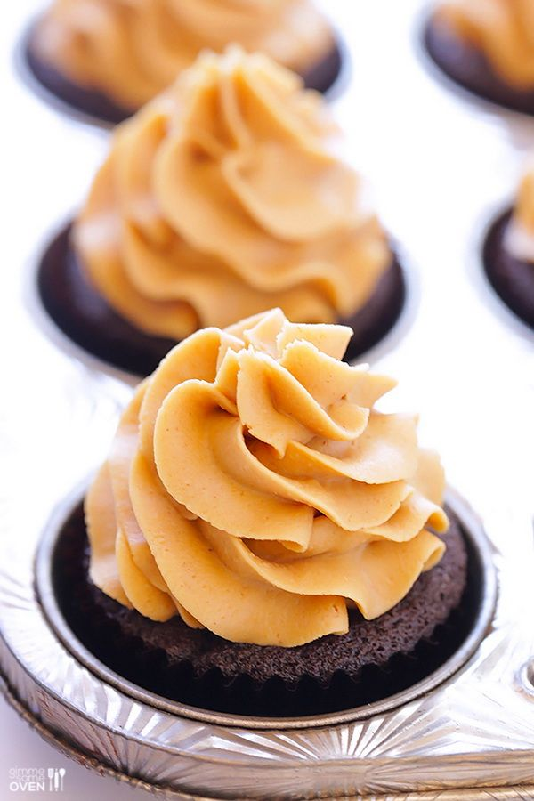 Chocolate Peanut Butter Cupcakes This one is also good, all you need ...