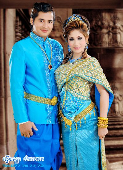 Cambodian wedding costume folkloric designs pinterest for Cambodian wedding dresses sale
