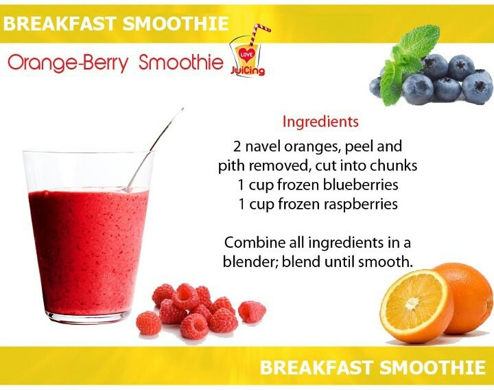 Orange berry smoothie | Juicing for Health | Pinterest