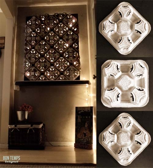 Recycled cup holder wall decor cool diy ideas pinterest for Recycled decorative items