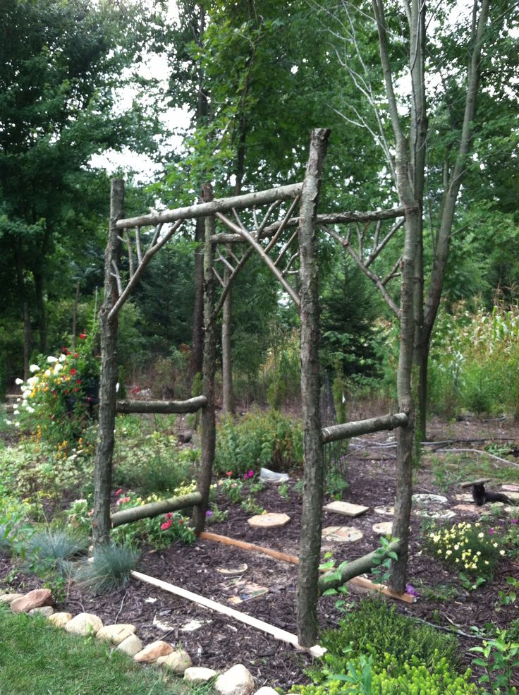 Garden Arbor rustic Projects Pinterest
