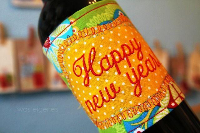 bottle cozy ... happy new year!