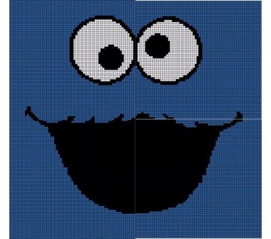 Crochet Pattern Excel : Cookie Monster Crochet Pattern Afghan Graph Crochet ...