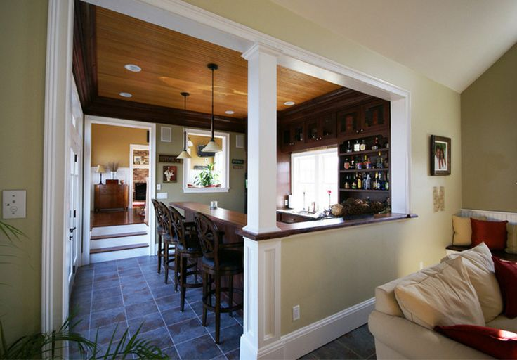 Half walls with columns half wall pinterest - Half wall interior design ...