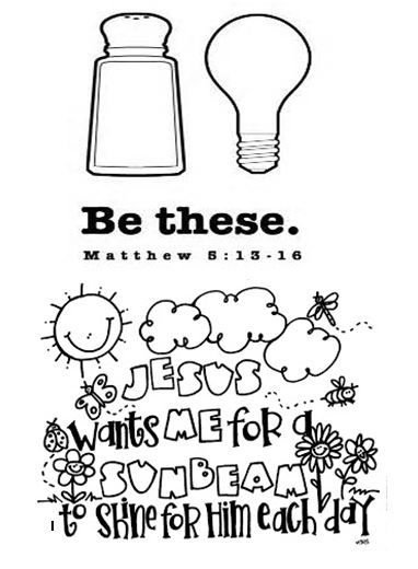 Salt And Light Coloring Page Pleasing Salt And Light Coloring Pages