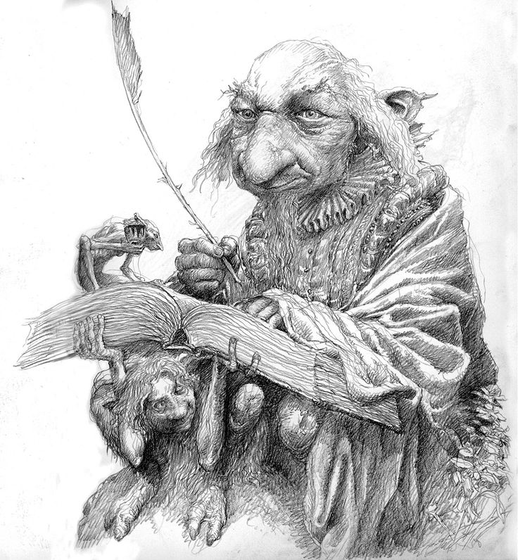 Fairy Scribe by Alan Lee | PENCIL DRAWINGS/SKETCHES | Pinterest