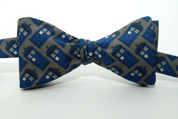 doctor who tardis freestyle bow tie