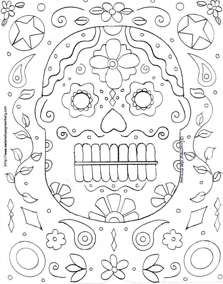Day Of The Dead Coloring Page Mexico Pinterest Day Of The Dead Mask Coloring Pages