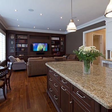 Living Room on Open Concept Living Room Kitchen Design  Pictures  Remodel  Decor And