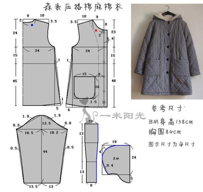 Куртки простые выкройки