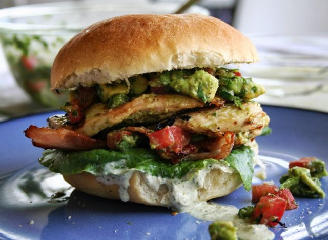 Tequila Lime Chicken club Sandwich with Jalapeno Mayo