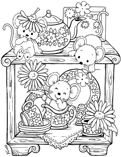 Teapot Coloring Pages For Adults Coloring Pages