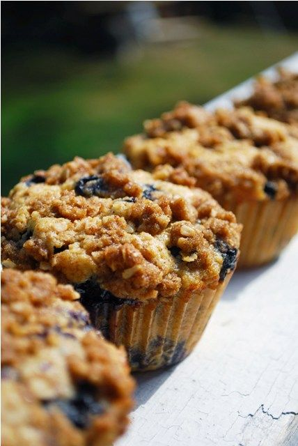 Brown Butter Whole Wheat Blueberry Muffins
