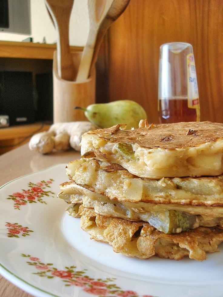 Pear & Ginger Oat Pancakes | OATS Recipes | Pinterest