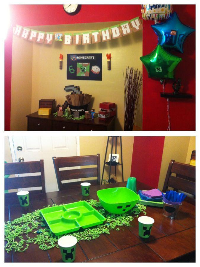Minecraft Party Decoration Ideas