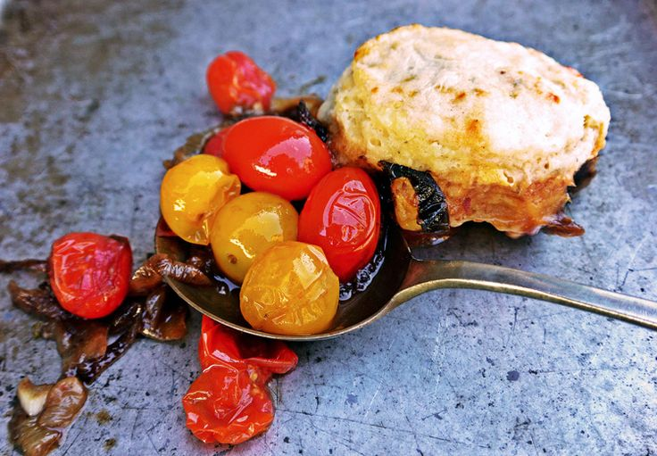 Tomato Cobbler with Blue Cheese Biscuits | The Floating Kitchen