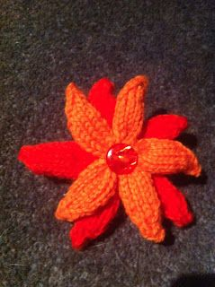 Free Knitted Flower Brooch Patterns : FREE KNITTING PATTERN FOR FLOWER BROOCH   KNITTING PATTERN
