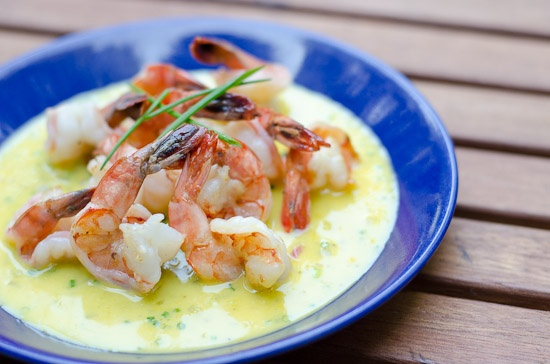 Shrimp With Orange Beurre Blanc Recipe — Dishmaps