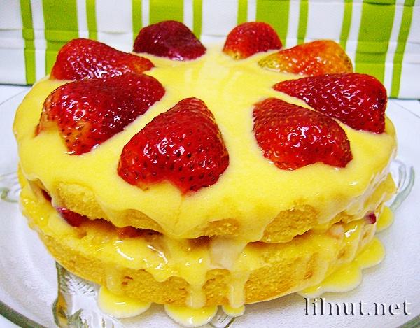 Strawberry Lemon Curd Lemon Cake | Lemon Hearts | Pinterest