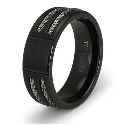 Ngagement Rings Finger Mens Engagement Rings Black Titanium Engagement