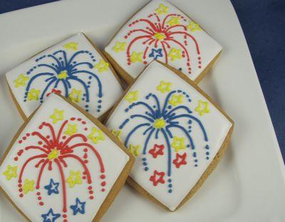 Firework cookies | Party | Pinterest