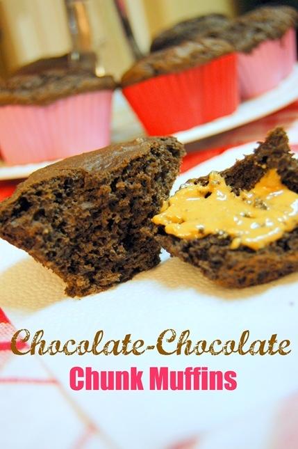 Chocolate-Chocolate Chunk Muffins | Indulge | Pinterest