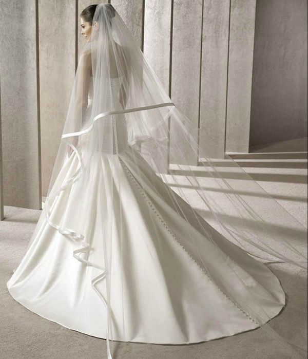 Long wedding veil wedding pinterest for Long veil wedding dresses